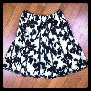 SOLD - CABi Black Off-White Skirt